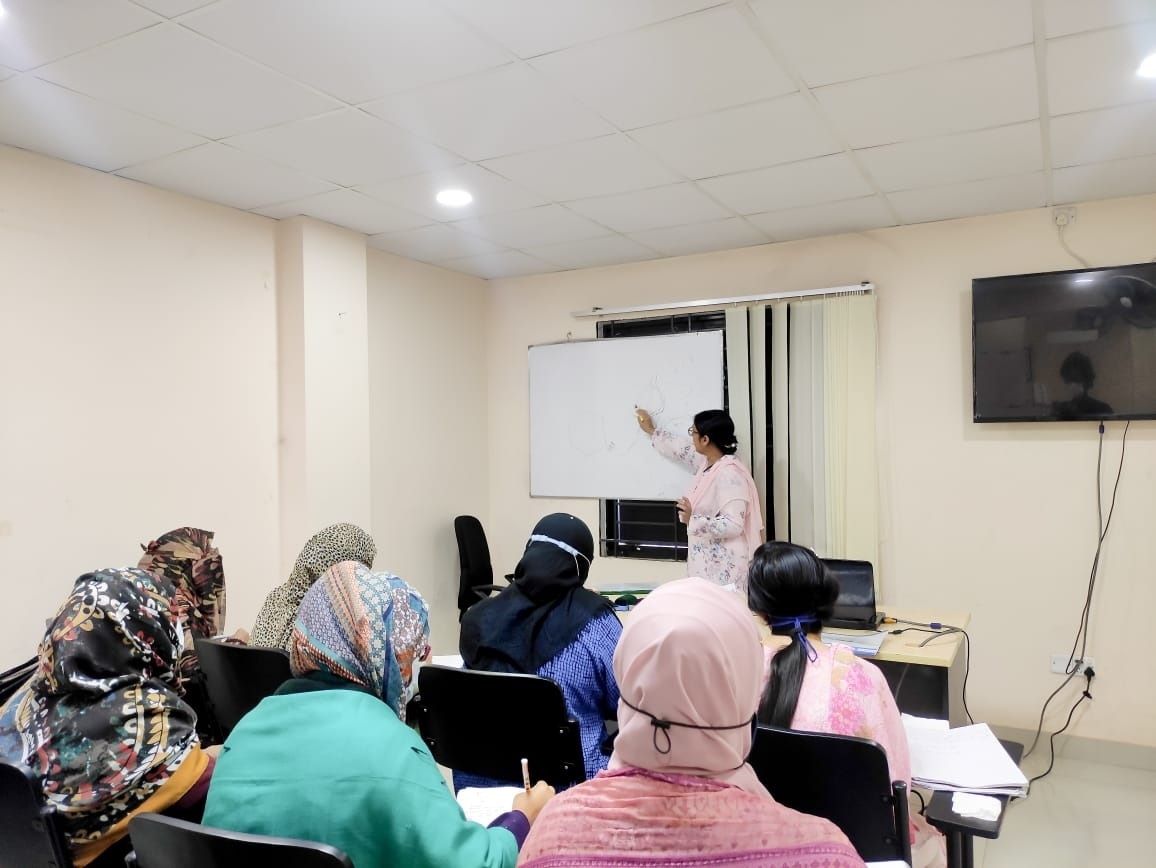 A snap of DR. Hasnahena Hakim taking theoretical class