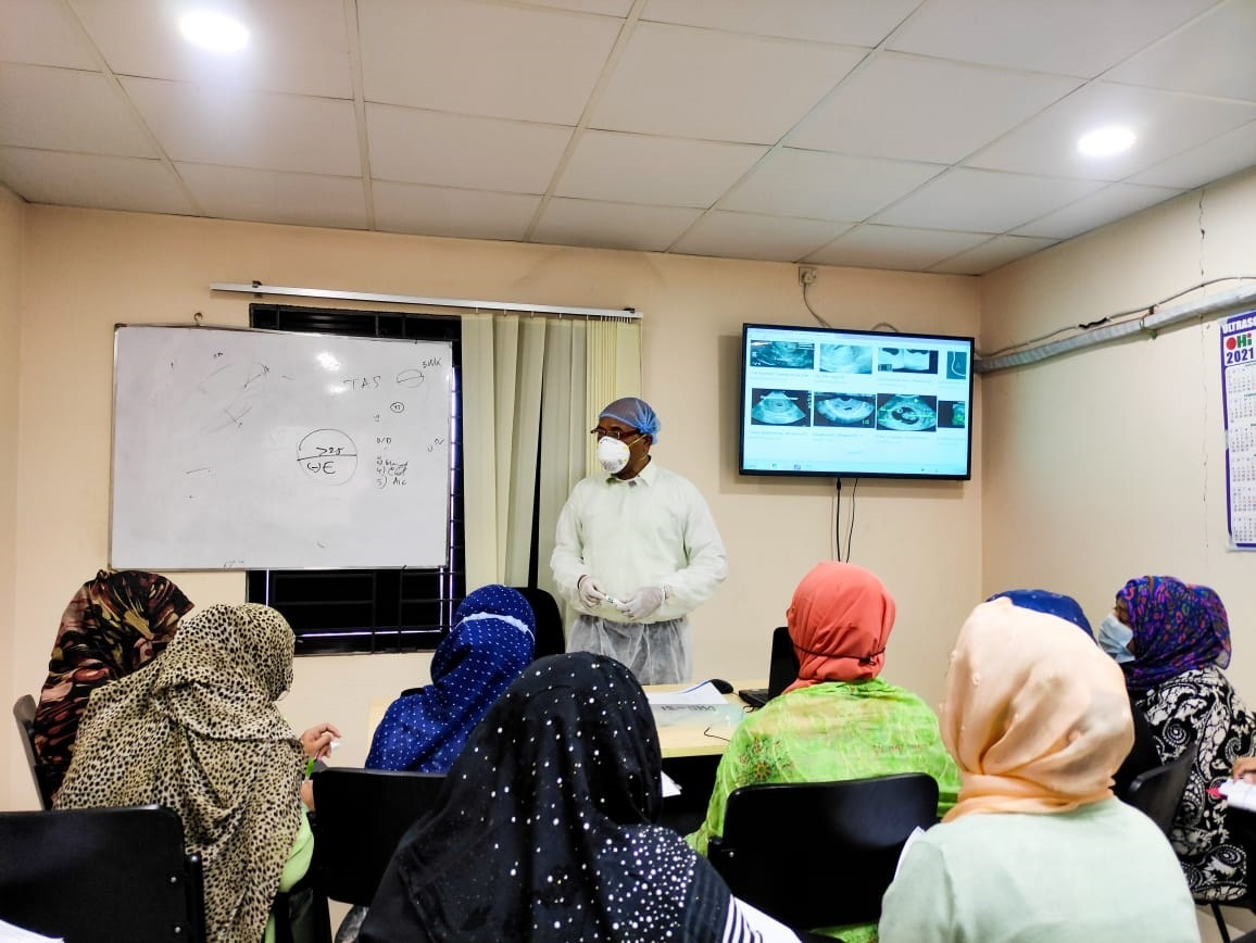 A glance of a theoretical class taken by Dr. Ferdaus